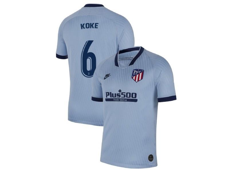 2019-20 Atletico Madrid #6 Koke Light Blue Third Authentic Jersey