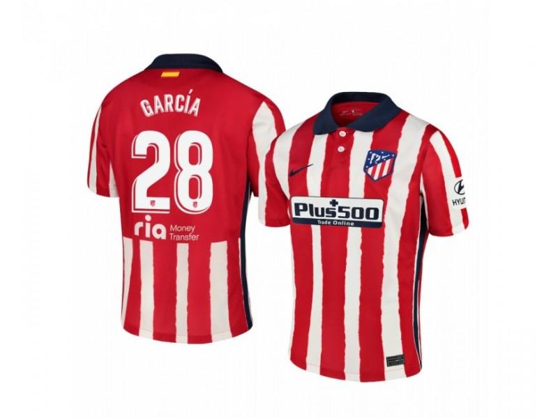 Women's 2020/21 Atletico Madrid Alvaro Garcia Replica Red White Stripe Home Jersey