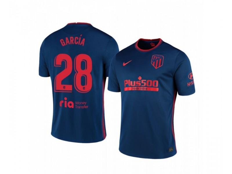 Youth 2020/21 Atletico Madrid Alvaro Garcia Authentic Navy Away Jersey