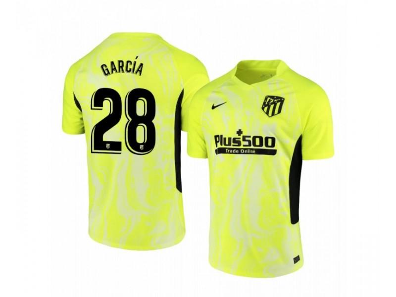 Youth 2020/21 Atletico Madrid Alvaro Garcia Authentic Neon Yellow Third Jersey