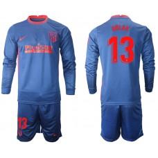 2020-21 Atletico Madrid Oblak #13 Oblak Navy Away Long-sleeved Jersey