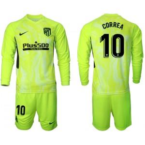 2020-21 Atletico Madrid Angel Correa #10 Light Green Third Long-sleeved Jersey