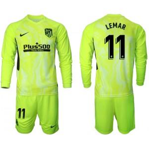 2020-21 Atletico Madrid Thomas Lemar #11 Light Green Third Long-sleeved Jersey