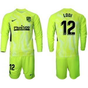2020-21 Atletico Madrid Renan Lodi #12 Light Green Third Long-sleeved Jersey