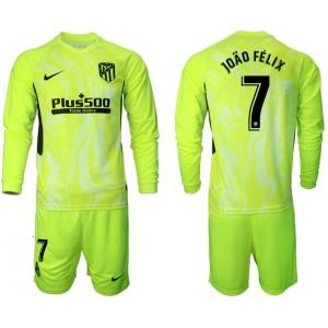 2020-21 Atletico Madrid Joao Felix #7 Light Green Third Long-sleeved Jersey