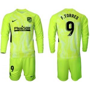 2020-21 Atletico Madrid Fernando Torres #9 F.TORRES Light Green Third Long-sleeved Jersey