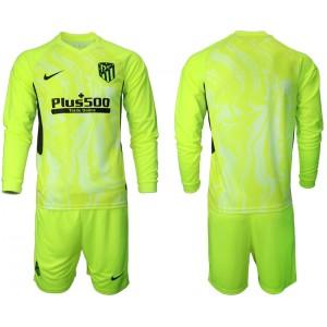 2020-21 Atletico Madrid Light Green Third Long-sleeved Jersey