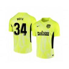 Youth 2020/21 Atletico Madrid Antonio Moya Replica Neon Yellow Third Jersey