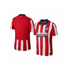 Women's 2020/21 Atletico Madrid Authentic Red White Stripe Home Jersey