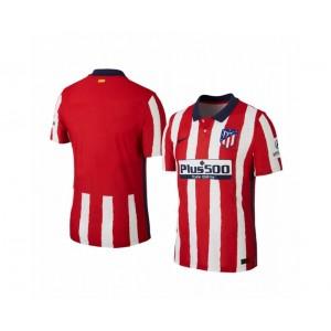2020/21 Atletico Madrid Replica Red White Stripe Home Jersey