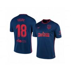 Youth 2020/21 Atletico Madrid Felipe Authentic Navy Away Jersey