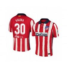 2020/21 Atletico Madrid German Valera Replica Red White Stripe Home Jersey