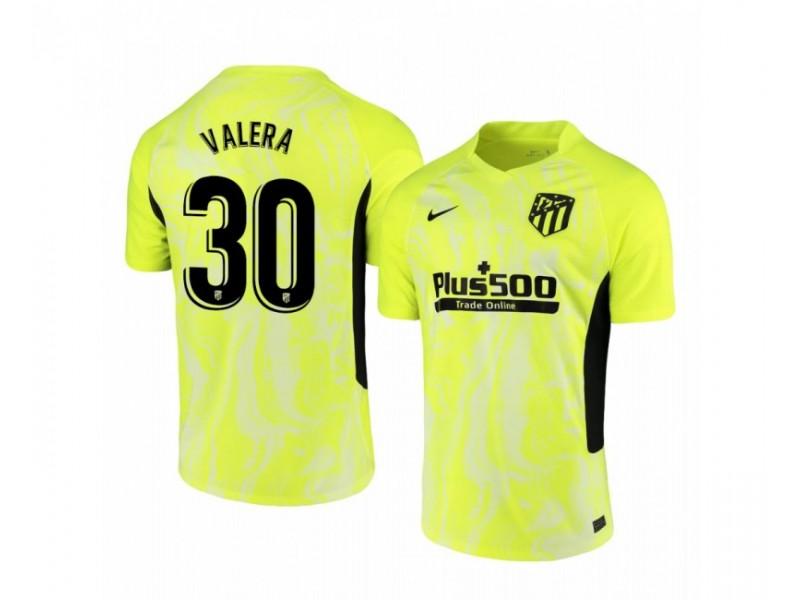 2020/21 Atletico Madrid German Valera Authentic Neon Yellow Third Jersey
