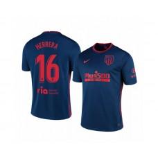2020/21 Atletico Madrid Hector Herrera Authentic Navy Away Jersey