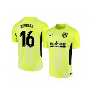 2020/21 Atletico Madrid Hector Herrera Authentic Neon Yellow Third Jersey
