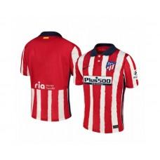 Women's 2020/21 Atletico Madrid Replica Red White Stripe Home Jersey