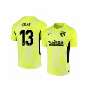 Youth 2020/21 Atletico Madrid Jan Oblak Authentic Neon Yellow Third Jersey