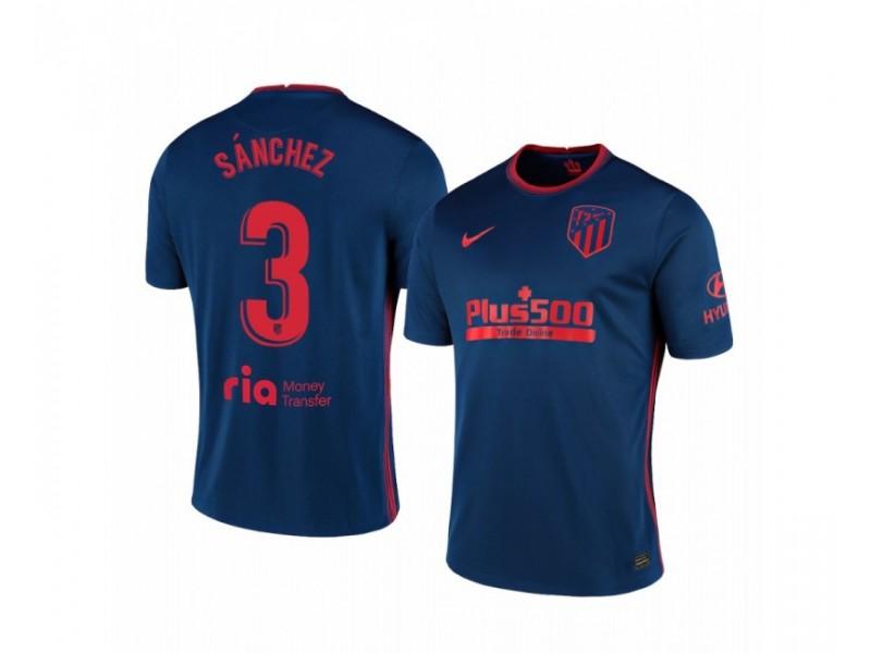 2020/21 Atletico Madrid Manu Sanchez Replica Navy Away Jersey