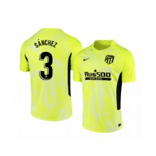 2020/21 Atletico Madrid Manu Sanchez Replica Neon Yellow Third Jersey