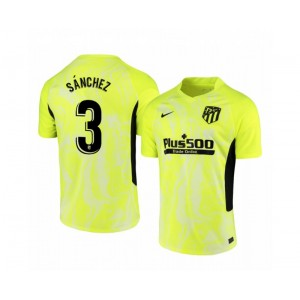 2020/21 Atletico Madrid Manu Sanchez Authentic Neon Yellow Third Jersey