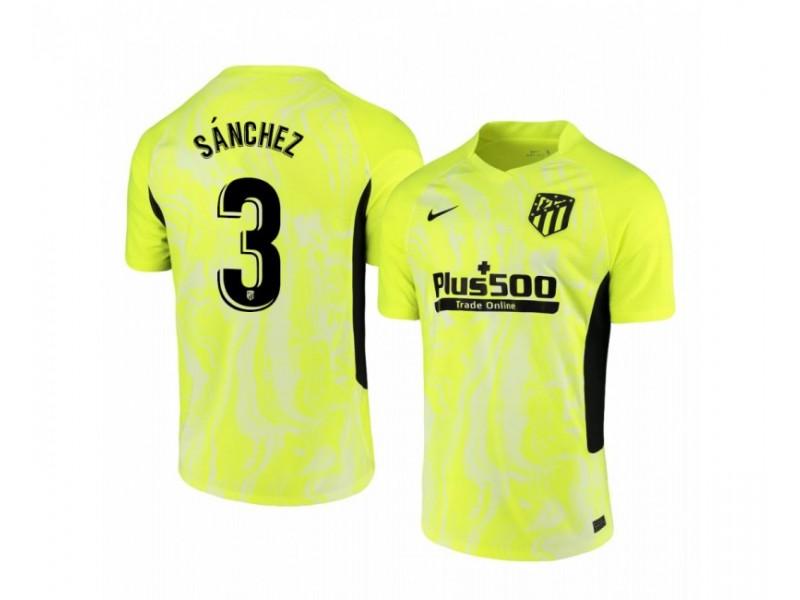 2020/21 Atletico Madrid Manu Sanchez Authentic Neon Yellow Third Jersey
