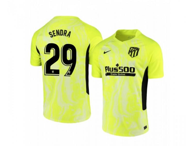 2020/21 Atletico Madrid Ricard Sanchez Sendra Replica Neon Yellow Third Jersey