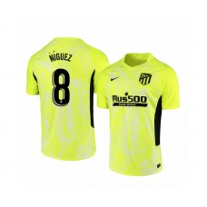 Youth 2020/21 Atletico Madrid Saul Niguez Replica Neon Yellow Third Jersey
