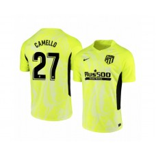 Youth 2020/21 Atletico Madrid Sergio Camello Authentic Neon Yellow Third Jersey