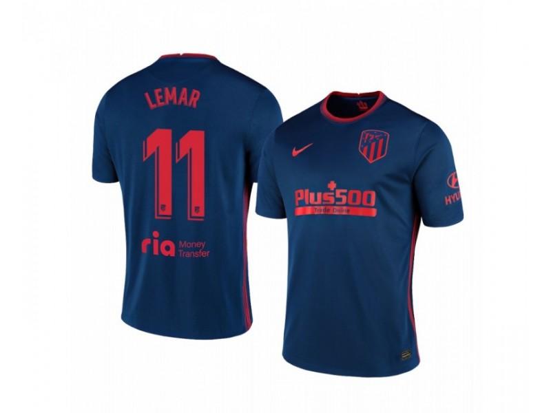 2020/21 Atletico Madrid Thomas Lemar Replica Navy Away Jersey