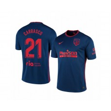 Youth 2020/21 Atletico Madrid Yannick Carrasco Replica Navy Away Jersey