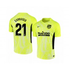 Youth 2020/21 Atletico Madrid Yannick Carrasco Replica Neon Yellow Third Jersey