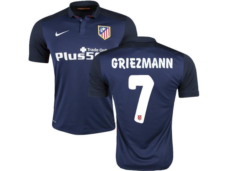 reputable site e1048 8683c Youth #7 Antoine Griezmann Replica Navy Away Short Shirt 15 ...