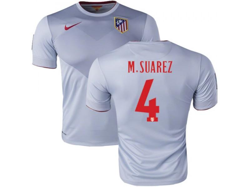 7f52d538740c0  4 Mario Suarez Grey Away Replica Soccer Jersey 15 16 Spain Atletico Madrid  Futbol